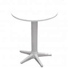 00901 Πλαστικό τραπέζι σε λευκό χρώμα Φ60cm+ΔΩΡΟ ΜΥΓΟΚΤΟΝΟ (00055)(ΕΩΣ 6 ΑΤΟΚΕΣ ή 60 ΔΟΣΕΙΣ)