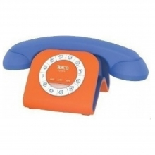 CORDED PHONE RETRO STYLE WITH JACK SUITABLE FOR SMARTPHONE TELCO GCE 3100 BLUE/ORANGE (ΕΩΣ 6 ΑΤΟΚΕΣ ή 60 ΔΟΣΕΙΣ)
