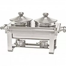 Chafing Dish με 2 Λεκανάκια με Καπάκι Inox 64x35x36 Ventus VE352 + ΔΩΡΟ ΓΑΝΤΙΑ ΕΡΓΑΣΙΑΣ