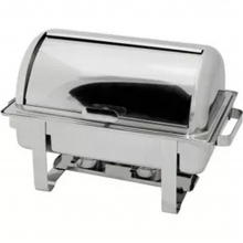 Chafing Dish με Καπάκι Roll Top Inox GN 1/1 9lt VE350 + ΔΩΡΟ ΓΑΝΤΙΑ ΕΡΓΑΣΙΑΣ