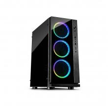 Computer Case Inter-Tech W-III RGB  + ΔΩΡΟ ΓΑΝΤΙΑ ΕΡΓΑΣΙΑΣ (ΕΩΣ 6 ΑΤΟΚΕΣ Η 60 ΔΟΣΕΙΣ)