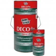 DECOFIN EPOXY SF Εποξειδικό γυαλιστερό βερνίκι 2 συστατικών για πατητή τσιμεντοκονία & φυσικές πέτρες 750gr+ΔΩΡΟ ΓΑΝΤΙΑ ΕΡΓΑΣΙΑΣ
