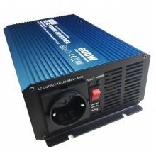 Inverter Καθαρού Ημιτόνου Pioneer Power 12V 600W P600U-122(ΠΛΗΡΩΜΗ ΕΩΣ 60 ΔΟΣΕΙΣ)