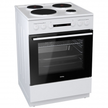 Korting KE6141WPM Κουζίνα Εμαγιέ (ΕΩΣ 6 ΑΤΟΚΕΣ ή 60 ΔΟΣΕΙΣ)