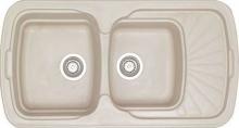 Sanitec Natura 304 (96x51 cm) νεροχύτης συνθετικός γρανίτης αντιστρεφόμενος + ΔΏΡΟ ΓΆΝΤΙΑ ΝΊΤΡΟ (ΠΛΗΡΩΜΉ ΈΩΣ 60 ΔΌΣΕΙΣ)