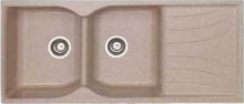 Sanitec Συνθετικός Νεροχύτης Κουζίνας Sanitec 332 115X50cm αντιστρεφόμενος + ΔΏΡΟ ΓΆΝΤΙΑ ΝΊΤΡΟ (ΠΛΗΡΩΜΉ ΈΩΣ 60 ΔΌΣΕΙΣ)