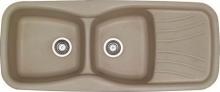 Sanitec Συνθετικός Νεροχύτης Κουζίνας Sanitec 311 120X51cm αντιστρεφόμενος + ΔΏΡΟ ΓΆΝΤΙΑ ΝΊΤΡΟ (ΠΛΗΡΩΜΉ ΈΩΣ 60 ΔΌΣΕΙΣ)