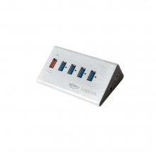 USB 3.0 High Speed Hub UA0227 + PSU  + ΔΩΡΟ ΓΑΝΤΙΑ ΕΡΓΑΣΙΑΣ (ΕΩΣ 6 ΑΤΟΚΕΣ Η 60 ΔΟΣΕΙΣ)