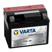 Varta Powersports AGM 3Ah (YT4L-4 / YT4L-BS) ΜΠΑΤΑΡΙΑ ΜΟΤΟΣΥΚΛΕΤΑΣ (ΕΩΣ 6 ΑΤΟΚΕΣ ή 60 ΔΟΣΕΙΣ)