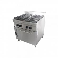 Φούρνος 4 εστίες κουζίνα επιδαπέδια αερίου σειρά 70 VIMITEX 204STV/E+ΔΩΡΟ ΕΡΓΑΣΙΑΣ ΓΑΝΤΙΑ (ΕΩΣ 6 ΑΤΟΚΕΣ ή 60 ΔΟΣΕΙΣ)