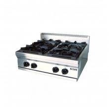 Κουζίνα 4 εστιες αερίου επιτραπέζια σειρά 700 STOVE TOP VIMITEX 752 ST (ΕΩΣ 6 ΑΤΟΚΕΣ ή 60 ΔΟΣΕΙΣ)