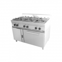 Φούρνος 6 εστίες κουζίνα επιδαπέδια αερίου σειρά 70 VIMITEX 206STV/E+ΔΩΡΟ ΕΡΓΑΣΙΑΣ ΓΑΝΤΙΑ (ΕΩΣ 6 ΑΤΟΚΕΣ ή 60 ΔΟΣΕΙΣ)