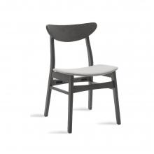 Καρέκλα Adoree pakoworld ξύλο rubber wood rustic grey-ύφασμα γκρι    + Δώρο Γάντια Εργασίας(Εως 6 Άτοκες ή 60 Δόσεις)