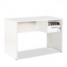 Γραφείο Concept pakoworld με συρτάρι και κλειδαριά σε χρώμα λευκό    + Δώρο Γάντια Εργασίας(Εως 6 Άτοκες ή 60 Δόσεις)