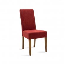 Καρέκλα Ditta pakoworld κόκκινο ύφασμα - πόδια ξύλο μασίφ καρυδί    + Δώρο Γάντια Εργασίας(Εως 6 Άτοκες ή 60 Δόσεις)