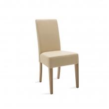 Καρέκλα Ditta pakoworld εκρού τεχνόδερμα - πόδια ξύλο μασίφ sonoma    + Δώρο Γάντια Εργασίας(Εως 6 Άτοκες ή 60 Δόσεις)