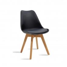 Καρέκλα Gaston pakoworld πολυπροπυλενίου-PU χρώμα μαύρο    + Δώρο Γάντια Εργασίας(Εως 6 Άτοκες ή 60 Δόσεις)