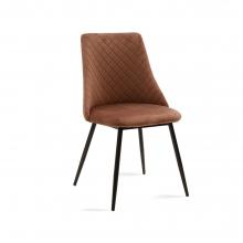 Καρέκλα Giselle pakoworld μαύρο-ύφασμα βελουτέ καφέ    + Δώρο Γάντια Εργασίας(Εως 6 Άτοκες ή 60 Δόσεις)