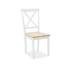 Καρέκλα Lars pakoworld ξύλο-MDF λευκό-φυσικό    + Δώρο Γάντια Εργασίας(Εως 6 Άτοκες ή 60 Δόσεις)