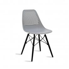 Καρέκλα Ninja pakoworld από PP χρώμα γκρι με ξύλινα πόδια    + Δώρο Γάντια Εργασίας(Εως 6 Άτοκες ή 60 Δόσεις)