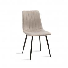 Καρέκλα Noor pakoworld μεταλλική μαύρη με βελούδο γκρι    + Δώρο Γάντια Εργασίας(Εως 6 Άτοκες ή 60 Δόσεις)