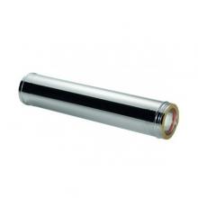 Καπνοδόχος Inox (ΜΠΟΥΡΙ) Ευθύγραμμη Διπλού ATRITUBE CH-304-CE Φ80/130 (0,5m) - 0,40mm-80KG (ΕΩΣ 6 ΑΤΟΚΕΣ ή 60 ΔΟΣΕΙΣ)