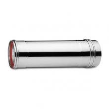 Καπνοδόχος Inox (ΜΠΟΥΡΙ) Ευθύγραμμη Μονού ATRITUBE EX-304-CE Φ100 (0,25m) - 0,40mm