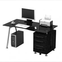 Γραφείο ΕΟ413,2 150x80cm Μεταλλικό Μαύρο-Γυαλί Μαύρο (ΕΩΣ 6 ΑΤΟΚΕΣ ή 60 ΔΟΣΕΙΣ)