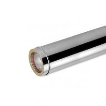 Καπνοδόχος Inox (ΜΠΟΥΡΙ) Ευθύγραμμη Διπλού ATRITUBE CH-316-CE Φ80/130 (0,25m) - DS - 0,50mm (ΕΩΣ 6 ΑΤΟΚΕΣ ή 60 ΔΟΣΕΙΣ)