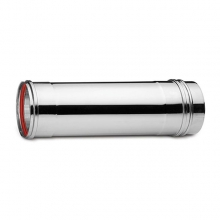 Καπνοδόχος Inox (ΜΠΟΥΡΙ) Ευθύγραμμη Μονού ATRITUBE EX-316-CE Φ80 (0,25m) - 0,60mm