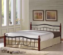 Κρεβάτι Διπλό E8036 VICTOR 150x200cm Mεταλ.Μαύρο - Ξύλο Καρυδί (ΕΩΣ 6 ΑΤΟΚΕΣ ή 60 ΔΟΣΕΙΣ)