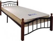 Κρεβάτι Ημίδιπλο VICTOR E8040 110x200cm Mέταλ.Μαύρο Ξύλο Καρυδί (ΕΩΣ 6 ΑΤΟΚΕΣ ή 60 ΔΟΣΕΙΣ)
