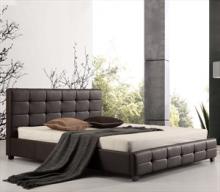 Κρεβάτι Ε8053,2 FIDEL 160x200cm PU Σκ.Καφέ (ΕΩΣ 6 ΑΤΟΚΕΣ ή 60 ΔΟΣΕΙΣ)