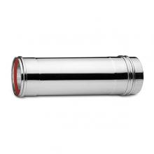 Καπνοδόχος Inox (ΜΠΟΥΡΙ) Ευθύγραμμη Μονού ATRITUBE EX-304-CE Φ100 (0,25m) - 0,50mm