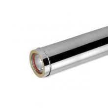 Καπνοδόχος Inox (ΜΠΟΥΡΙ) Ευθύγραμμη Διπλού ATRITUBE CH-304-CE Φ80/130 (0,5m) - 0,50mm-80KG (ΠΛΗΡΩΜΗ ΕΩΣ 60 ΔΟΣΕΙΣ)