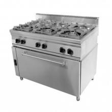 Φούρνος μεγάλος 6 εστίες κουζίνα επιδαπέδια αερίου σειρά 70 VIMITEX 206STV L +ΔΩΡΟ ΕΡΓΑΣΙΑΣ ΓΑΝΤΙΑ (ΕΩΣ 6 ΑΤΟΚΕΣ ή 60 ΔΟΣΕΙΣ)
