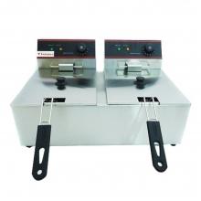 Επαγγελματική Φριτέζα Ηλεκτρική 6+6Lit - 5Kw - 230Volt (Κίνας) + ΔΩΡΟ ΓΑΝΤΙΑ ΕΡΓΑΣΙΑΣ NITRO (ΕΩΣ 6 ΑΤΟΚΕΣ ή 60 ΔΟΣΕΙΣ)