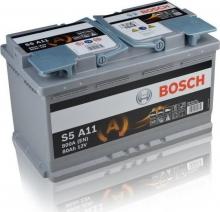 Μπαταρία BOSCH 0092S5A110 S5 AGM START/STOP S5A11 80AH 800EN ETN (ΕΩΣ 6 ΑΤΟΚΕΣ ή 60 ΔΟΣΕΙΣ)