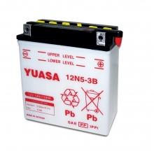 Μπαταρία μοτοσυκλετών YUASA Conventional 12N5-3B - 12V 5 (10HR) - 39 CCA (EN) εκκίνησης (ΕΩΣ 6 ΑΤΟΚΕΣ ή 60 ΔΟΣΕΙΣ)
