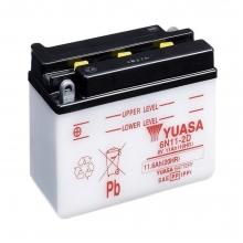 Μπαταρία μοτοσυκλετών YUASA Conventional 6N11-2D - 6V 11 (10HR) (ΕΩΣ 6 ΑΤΟΚΕΣ ή 60 ΔΟΣΕΙΣ)