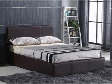 Κρεβάτι διπλό Wilton-II 160X200 Αποθ.Χώρο PU Σκ.Καφέ