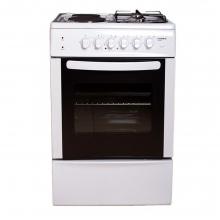 Ηλεκτρική κουζίνα με 2 εμαγιέ εστίες και 2 αερίου, Crown CR-5050V + Δώρο Γάντια εργασίας (ΕΩΣ 6 ΑΤΟΚΕΣ Η 60 ΔΟΣΕΙΣ)