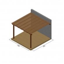 Πέργκολα με καφασωτό αναρρίχησης απο τοίχο (6x6) (113009) (ΕΩΣ 6 ΑΤΟΚΕΣ ή 60 ΔΟΣΕΙΣ)