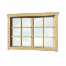 Ξύλινο Παράθυρο Δίφυλλο 44mm - 129 x 88,2cm (404404) (ΕΩΣ 6 ΑΤΟΚΕΣ ή 60 ΔΟΣΕΙΣ)