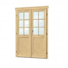 Ξύλινη Πόρτα Δίφυλλη 28mm - 158,8 x 190cm (401950) (ΕΩΣ 6 ΑΤΟΚΕΣ ή 60 ΔΟΣΕΙΣ)