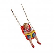 Κούνια - κάθισμα μωρού με μπάρα Τ - κόκκινη/κίτρινη (13111) (ΕΩΣ 6 ΑΤΟΚΕΣ ή 60 ΔΟΣΕΙΣ)