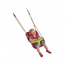Κούνια - κάθισμα μωρού με μπάρα Τ - ροζ/λαχανί (04006) (ΕΩΣ 6 ΑΤΟΚΕΣ ή 60 ΔΟΣΕΙΣ)