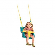 Κούνια - κάθισμα μωρού με μπάρα Τ - τιρκουάζ/κίτρινη (09591) (ΕΩΣ 6 ΑΤΟΚΕΣ ή 60 ΔΟΣΕΙΣ)