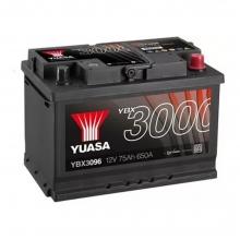 Μπαταρία αυτοκινήτου YUASA YBX3096 75Ah (ΕΩΣ 6 ΑΤΟΚΕΣ ή 60 ΔΟΣΕΙΣ)