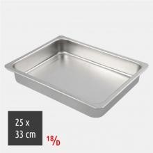 Ταψί Ορθογώνιο 25x33cm 18/D Inox (ΕΩΣ 6 ΑΤΟΚΕΣ ή 60 ΔΟΣΕΙΣ)